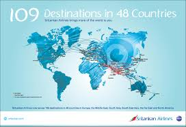 Flight Route Map Flight Routes Srilankan Airlines