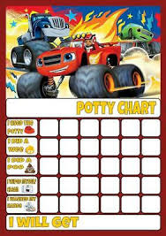 Blaze Monster Machines Potty Toilet Training Reward Chart