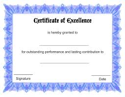 Certificate Of Excellence Template Word Certificate Template Word Editable Best Of Free Printable 60