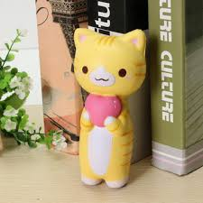 vlo squishy jumbo kitten cat love heart 14cm slow rising original packaging collection gift decor