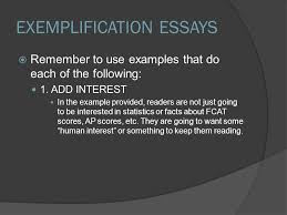 goals ap multiple choice practice exemplification writing  exemplification essays  remember to use examples that do each of the following 1