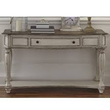 antique white sofa table. Liberty Magnolia Manor Antique White Sofa Table | Weekends Only Furniture Antique White Sofa Table E