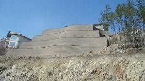 retaining walls and steep slopes