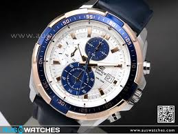 casio edifice chronograph genuine leather band mens watches efr 539l 7cv efr539l watches casio aus watches