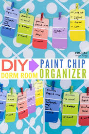 do it yourself weekly dorm room calendar this easy paint chip craft can be done