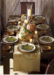 Autumn Tablescape / Thanksgiving Table / Fall Decor / - Simple Rustic  Thanksgiving