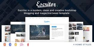 Escritor Responsive Blogging Magazine News Html5 Template