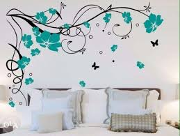 Flower Design Wall Painting