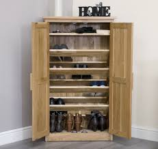 Arden Solid Oak Hallway Furniture Shoe Storage Cabinet Cupboard 2017 With  Units Wooden Inspirations