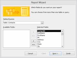 Report With Pictures How To Create A Report With The Report Wizard In Microsoft