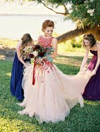 wonderful autumn colored wedding dresses cherry marry
