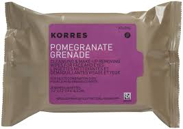 oil from face and skin types 25 wipes korres pomegranate cleansing wipes make up removing wipes