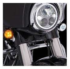 Ciro Fang Front Led Signal Light Inserts 00 Up Harley Bullet Lights Chrome