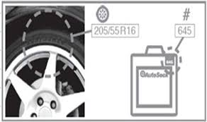Autosock Size Chart The Ultimate Guide To Tire Socks Snow Chains And
