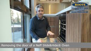 removing a neff slide hide oven door