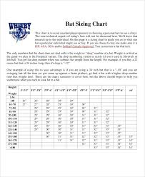 bat size chart 8 size chart examples samples