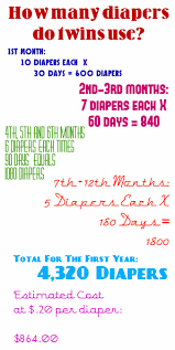 Twin Diaper Usage Estimate For First Year Of Life Baby
