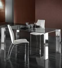 contemporary glass dining tables gallotti modern clear glass and steel dining table at juliettes interiors a lar