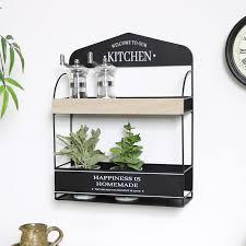 wall mounted kitchen shelf unit