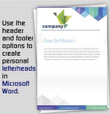 Header Template Word How To Create A Personal Letterhead In Microsoft Word