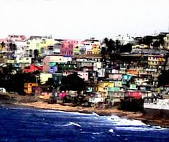 puerto rico coast modern canvas painting