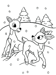 Rudolph Coloring Pages Coloring Pages And Are The Reindeer Coloring