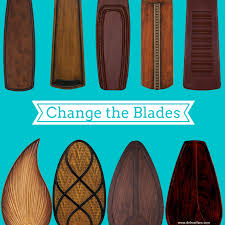 ceiling fan blades. change the blade style and type on your ceiling fan blades