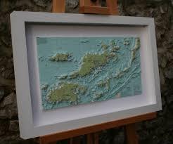 Framed Nautical Chart Art Of Bvi Tortola Framed 3d