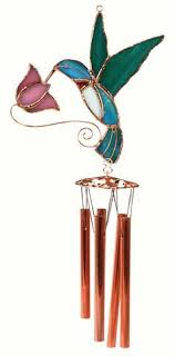 hummingbird with pink flower sned gl wind chime wind chimes craft gl wind chimes