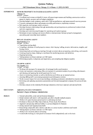 Leasing Agent Resume Samples Velvet Jobs