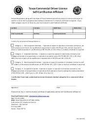 Cdl Self Certification Form Registry Of Motor Vehicles