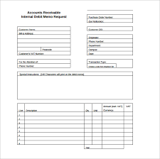 Credit Memo Request Form Template