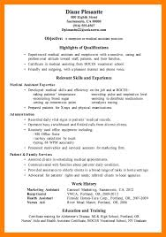 9 Objectives For Medical Assistant Resume Free Ride Cycles