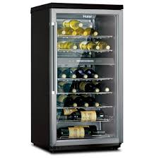 haier 18 bottle wine cooler. haier hvz040abh 40-bottle dual-zone wine cellar 18 bottle cooler r