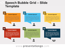 Word Bubble Templates Speech Bubble Grid For Powerpoint And Google Slides