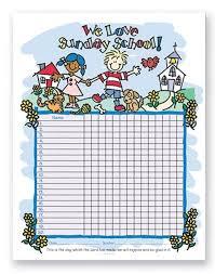 Sunday School Chart Ideas Free Sunday School Attendance Forms Modal Title School