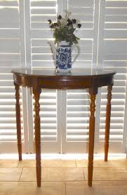 side table for hallway. Vintage Side Table , Hall Table, Lamp Table.D Shaped Half Moon Lovely Colours For Hallway S