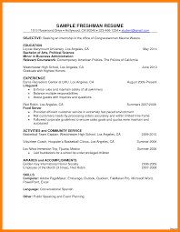 Resume For College Freshmen
