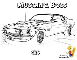 1966 Mustang Coloring Pages Mustangs Pinterest