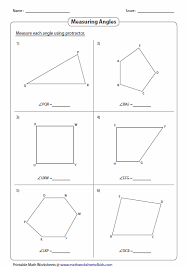 printable protractor. angles formed by shapes printable protractor