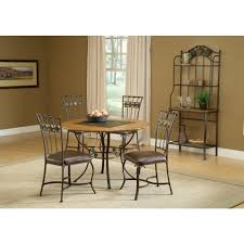 hilale furniture lakeview 5 piece brown copper dining set