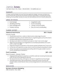 Show Me A Resume Beautiful Event Coordinator Resume Example ...