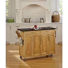 Granite Top Kitchen Home Styles Create A Cart White Kitchen Cart With Black Granite
