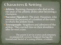 to an athlete dying young by a e housman 6 iuml130151 athlete running champion who died