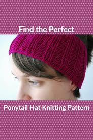 Ponytail Hat Knitting Pattern Classy Catching The Trend Ponytail Hat Knitting Patterns Knitting For