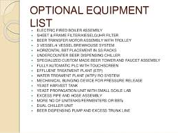 mechanical equipments list microbrewery in india equipments