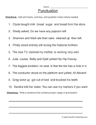 Collections of Punctuation Free Worksheets, - Easy Worksheet Ideas