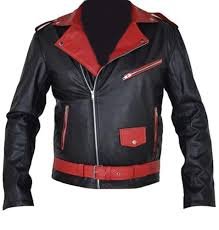 Leather Jacket With Design On Back Classyak Mens Black And Red Real Leather Jacket At Amazon