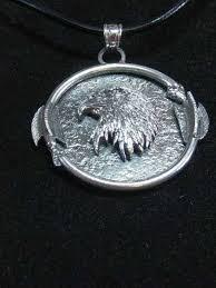 arrows and eagle pendant silver eagle