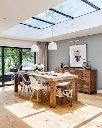 Susie McKechnie meticulously planned her kitchen/dining/living room  extension to achieve a beautiful design that works for the whole  family--skylight!